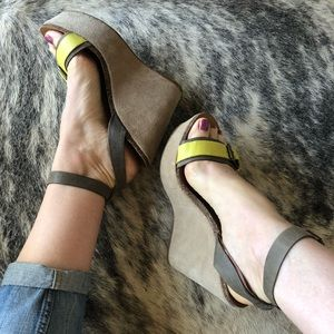 Lucky Brand Shoes - Lucky Brand Suede Wedge Sandal